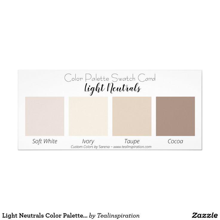 Light Neutrals Color Palette Swatch Card | Zazzle.com