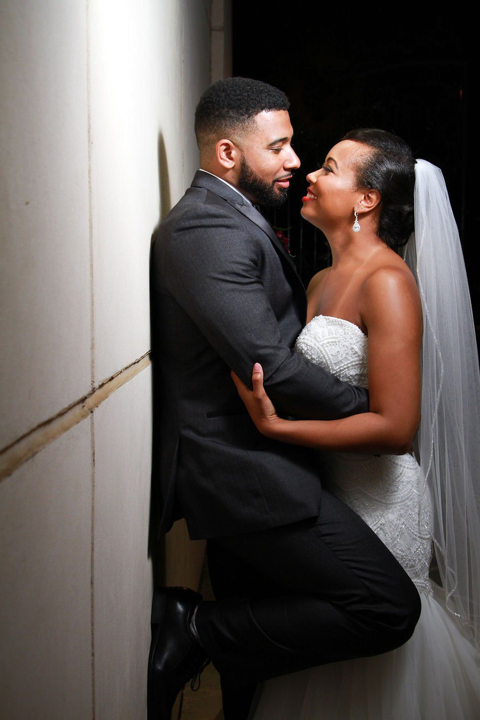 Wedding dress donation  Tiera and Brianus romance was made official during this dreamy