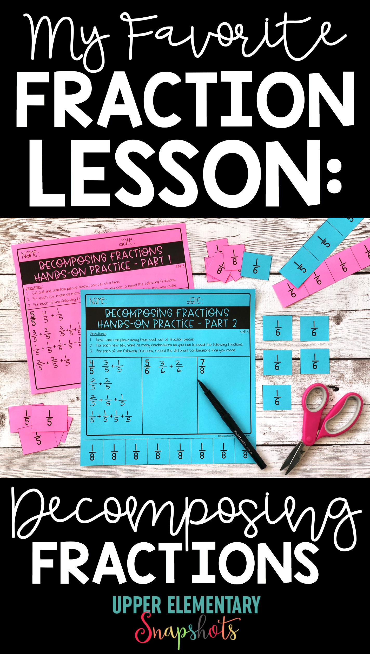 My Favorite Fraction Lesson: Decomposing Fractions | Teaching ...