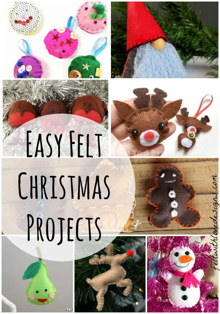 Felt Christmas Decorations To Make Free Patterns.Diy Felt Christmas Projects And Free Patterns Share Your