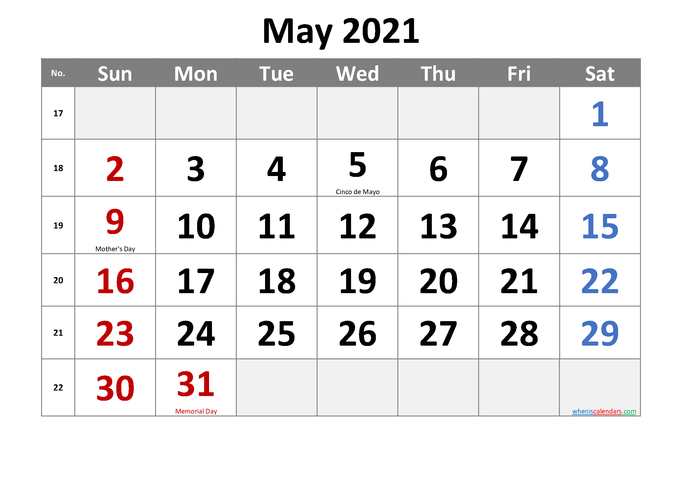 Free Printable May 2021 Calendar In 2020 Printable Calendar July Calendar Printables Printable Calendar