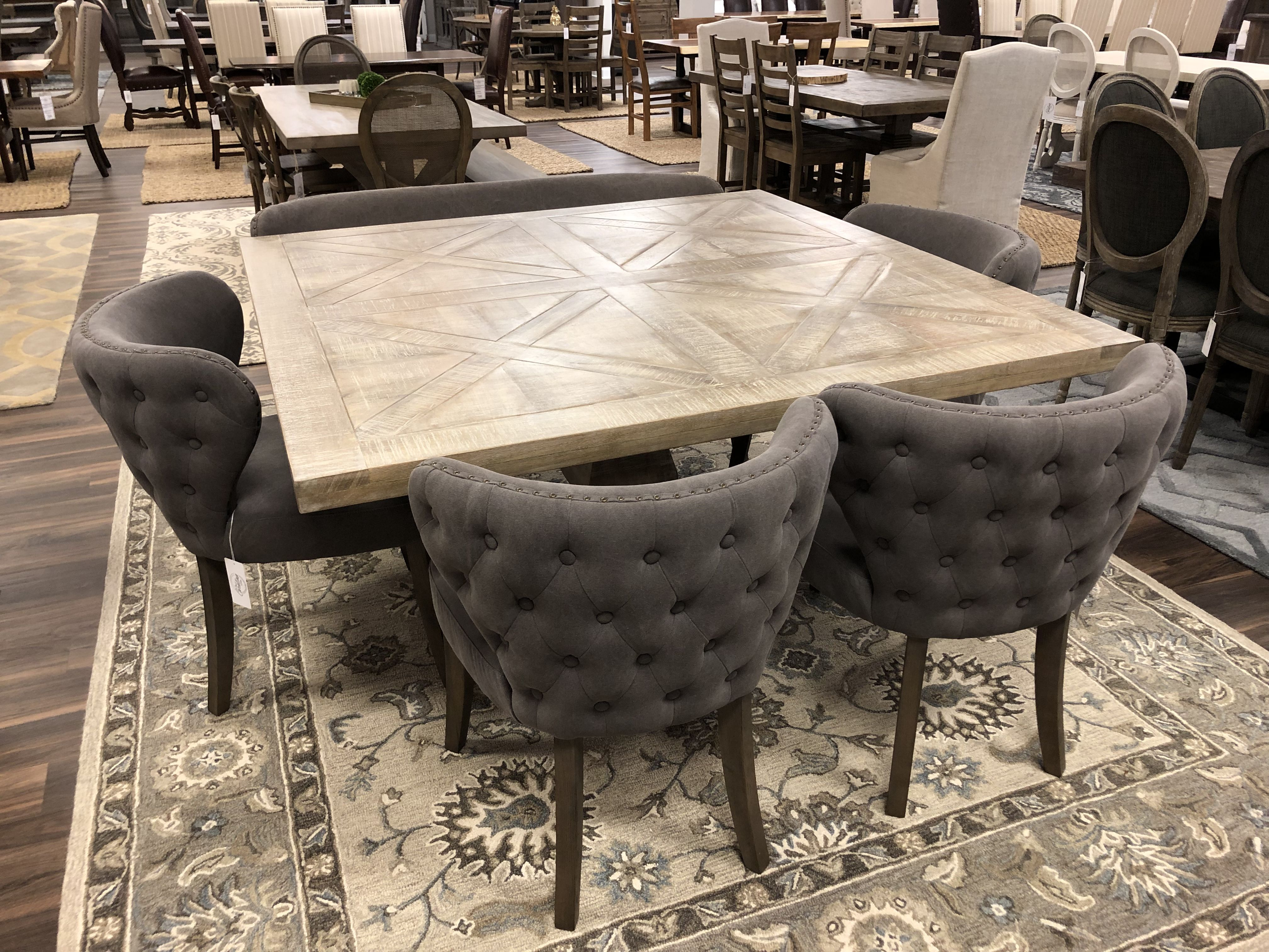 Brisbane 59 Square Dining Table New White Wash Square Dining