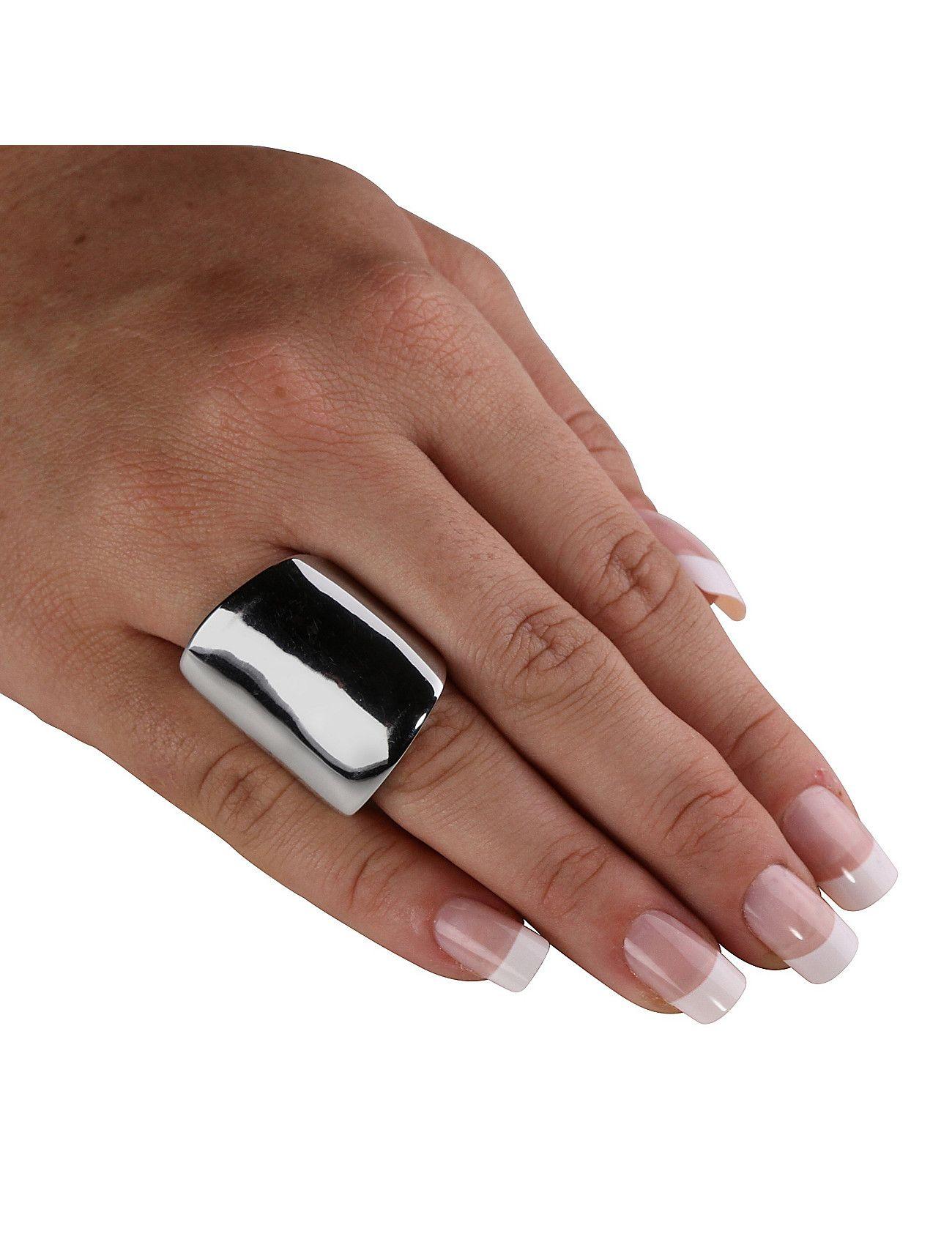 Silver Free-Form Square Ring   Lane Bryant