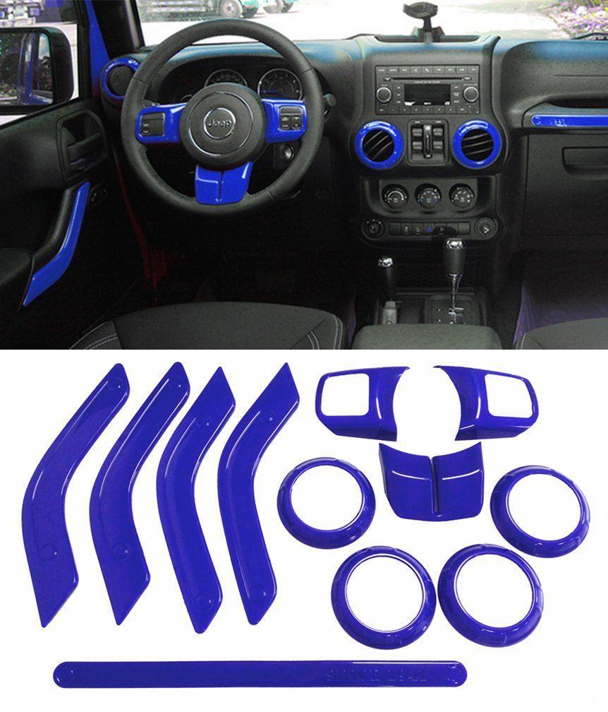 E Cowlboy Full Set Interior Decoration Trim Kit Steering Wheel