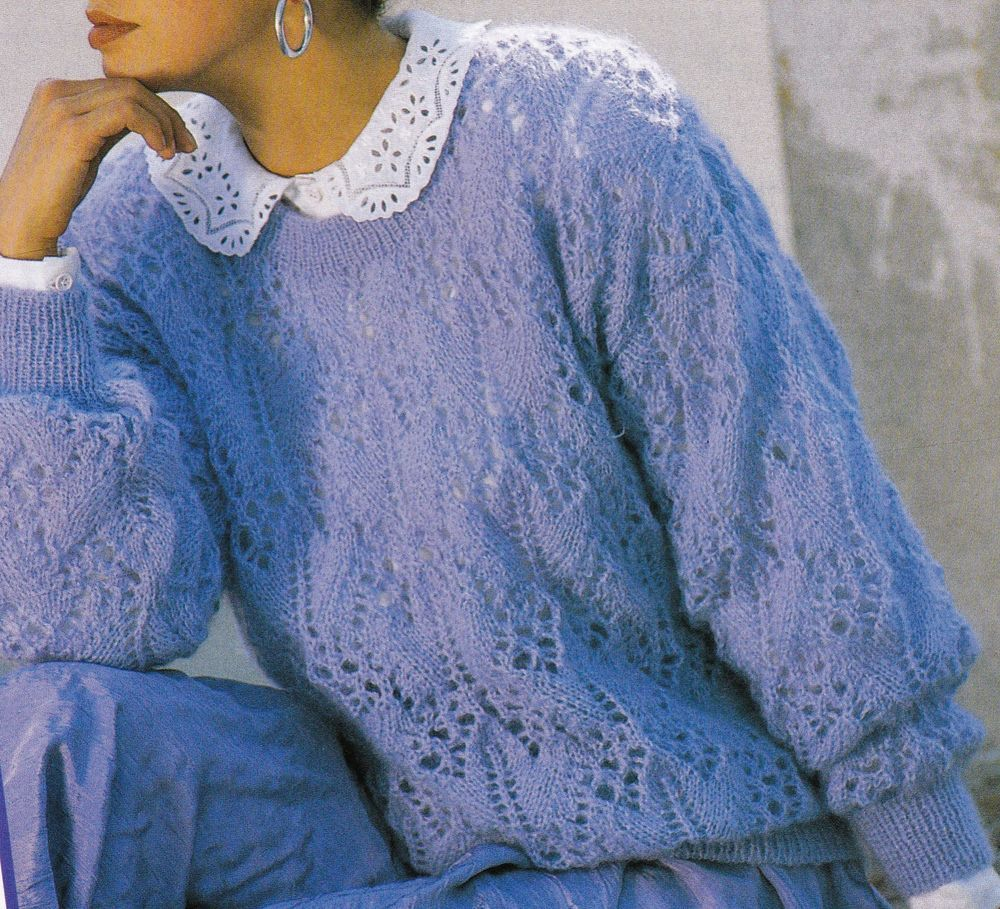 Vintage Knitting Pattern Instructions to Make Ladies Womens Lace ...