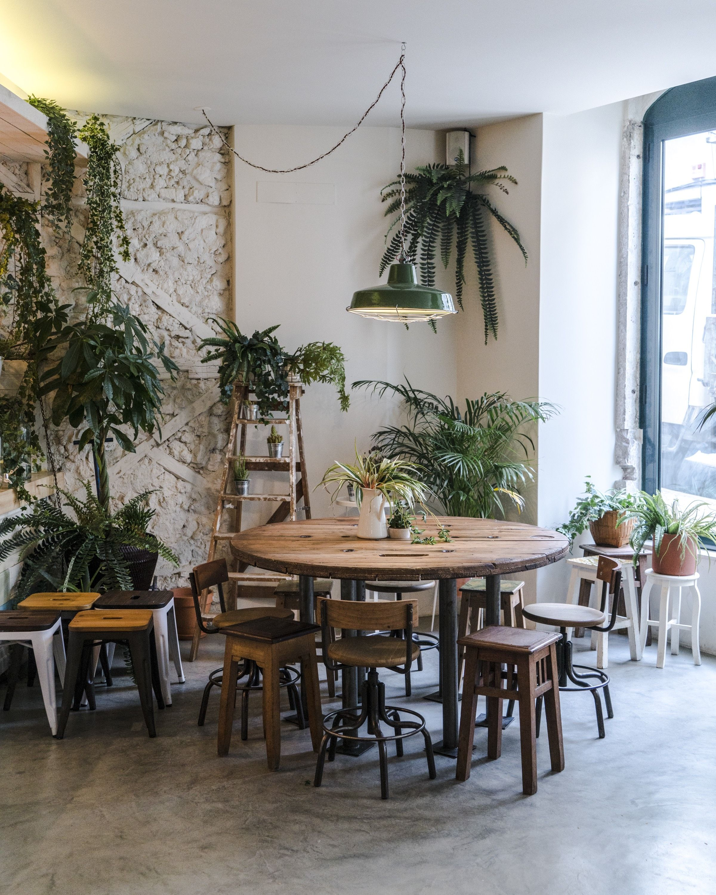 A Stylish Guide To The Coolest Cafes In Lisbon Portugal Live Like It S The Weekend Cool Cafe Cafe Interior Design Coffee Shop Interior Design