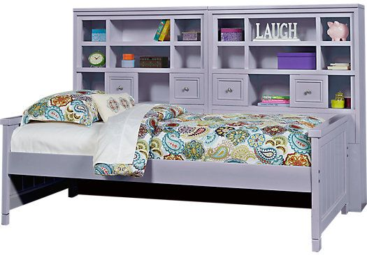picture of Cottage Colors Lavender 5 Pc Twin Bookcase Daybed from