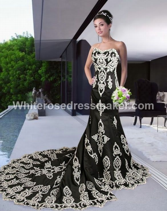 Gothic Wedding dress alternative ball gown black made to measure ...
