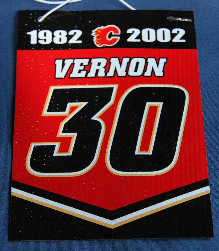 Mike Vernon Calgary Flames Retirement Banner