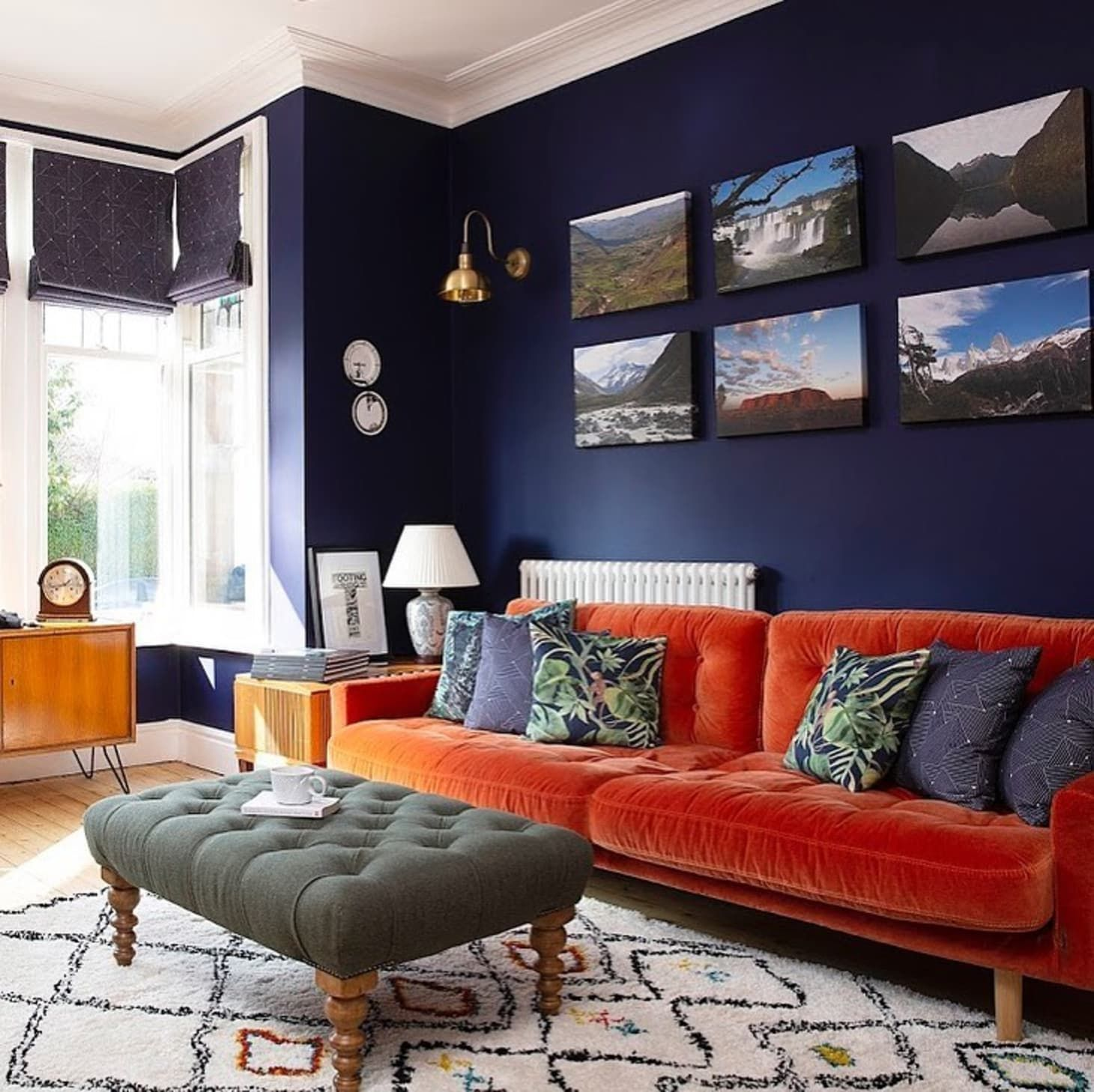 Orange Is The New Blue At Least When It Comes To Living Room Sofas Living Room Orange Orange Sofa Blue And Orange Living Room Blue orange living room