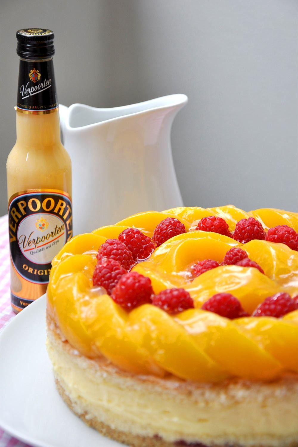 Photo of Pfirsich-Himbeer-Eierlikör Verpoorten-Torte
