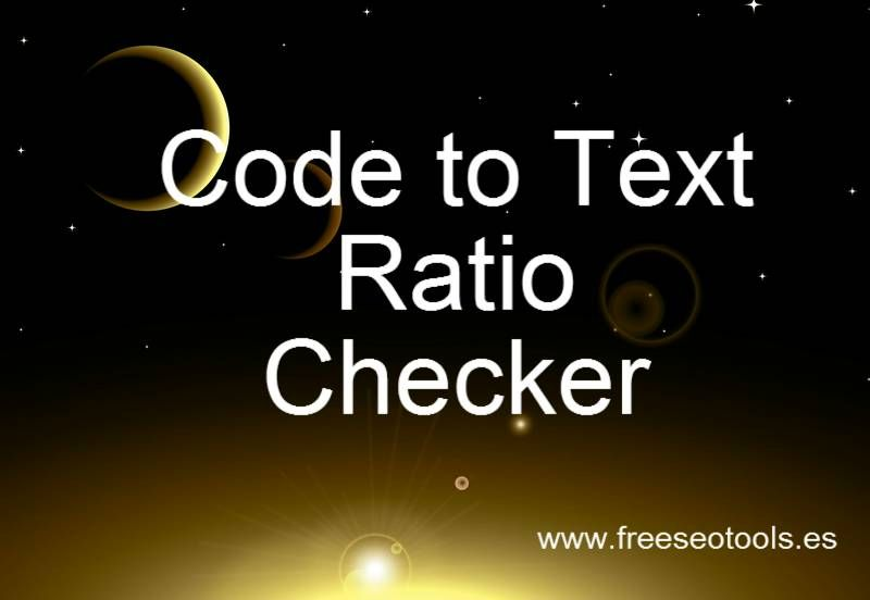 The Code to Text Ratio Checker is used by search engines like google - google spreadsheet calculate