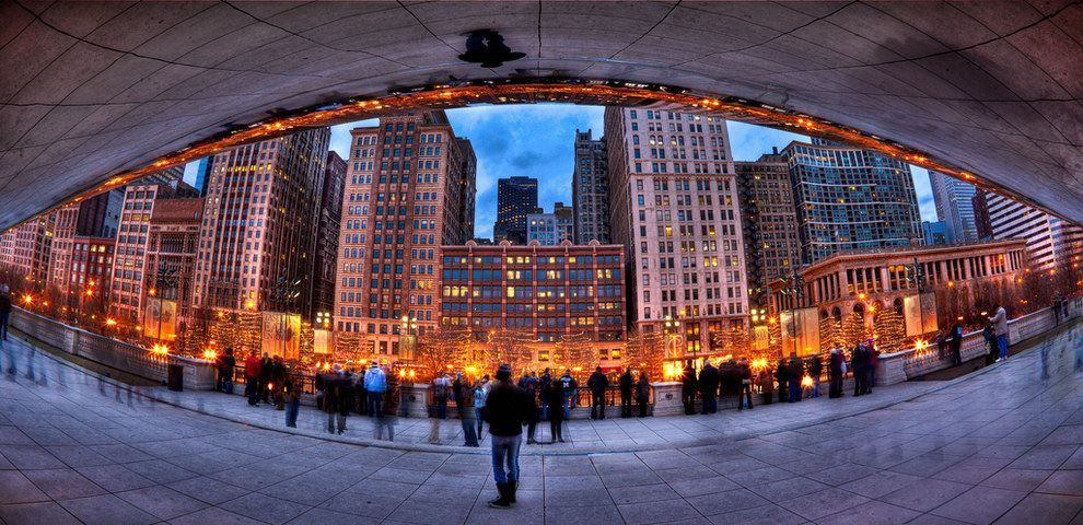 The Bean from underneath