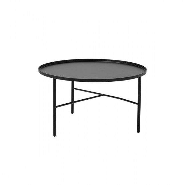 Pretty Coffee Table 75x47 Matte Black By Bloomingville Clickon