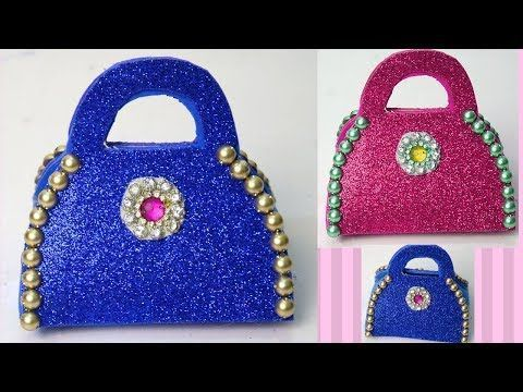 DIY  Ladies purse Glitter foam sheet clutch  Paper Purse Making Tutorial for G DIY  Ladies purse Glitter foam sheet clutch  Paper Purse Making Tutorial for G and  Purses...