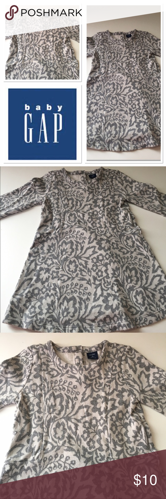 Baby Gap girls dress size 3T Adorable gray floral print dress from BabyGap GAP Dresses Casual
