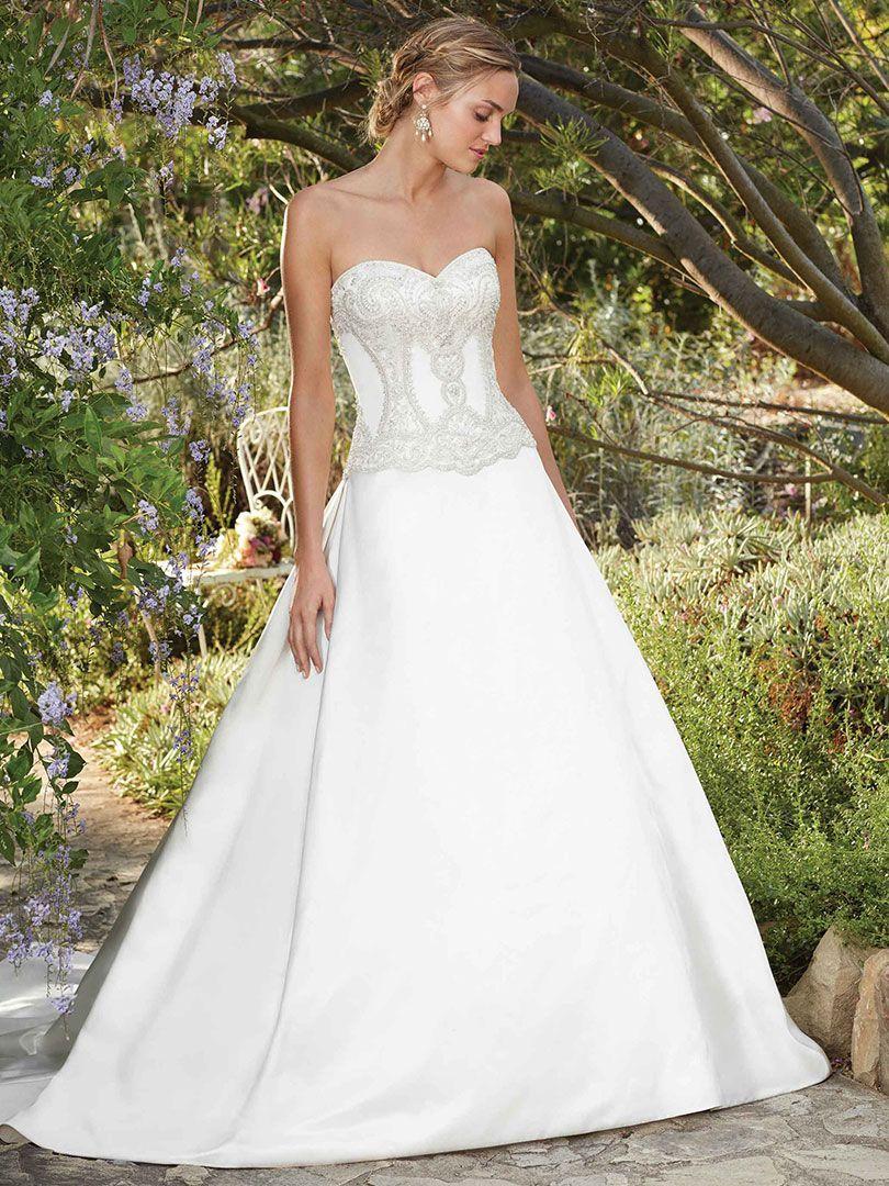 Dropped waist wedding dress  Casablanca Bridal Style  Daylily Wedding Dress Daylilyus
