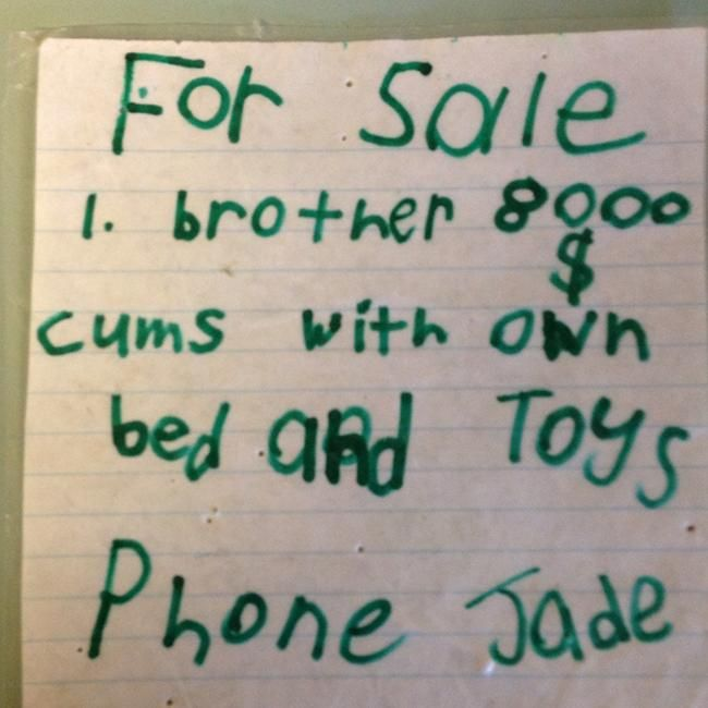 Nineyearold Zacs letter of apology to little brother for