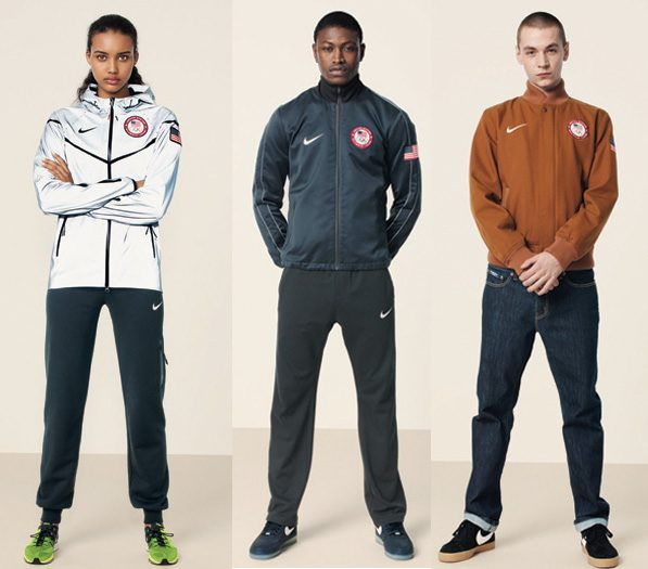 The United States Olympic Committee (USOC) and Nike have unveiled their medal  stand apparel and footwear for London 2012 5851736433
