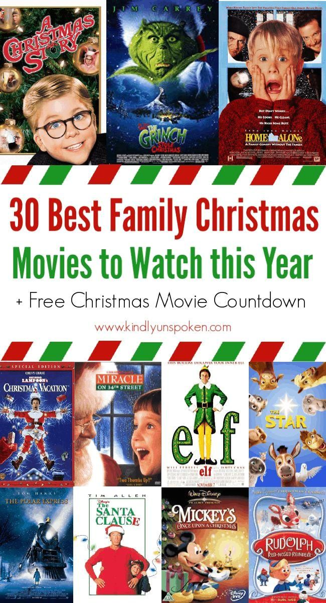 30 Best Family Christmas Movies to Own : Looking for Christmas movies to watch? Create your own Christmas movie countdown with the 30 Best Family Christmas Movies full of classic Christmas movies and Christmas favorites that both kids and adults will love! #christmasmovies #christmas #christmascountdown Both adults and kids will love this list of 30 Best Family Christmas Movies! Grab my Christmas movie countdown with all the best family Christmas movies! #Best #Family #Christmas