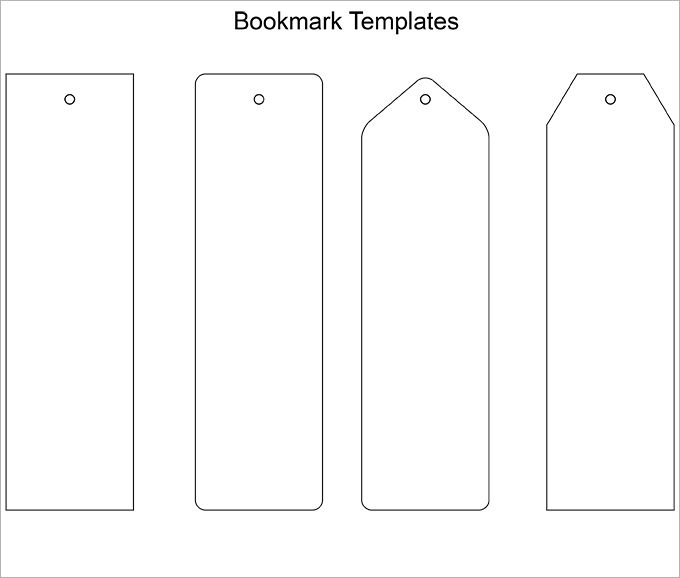 Blank Bookmark Template, Bookmark Template \u2026 Bookmark\u2026 - blank bookmark template