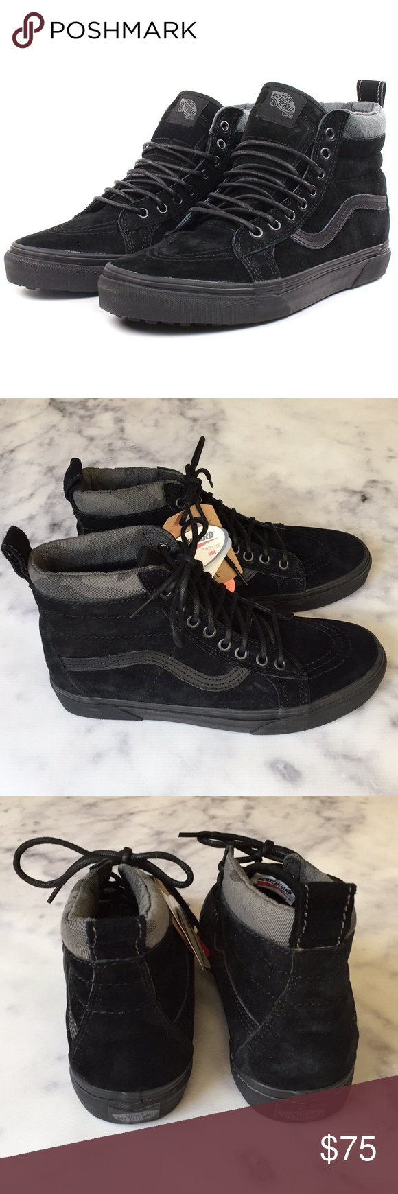 104cca34b4 VANs NWB SK8-Hi Black Suede MTE All-Weather new with box black suede ...