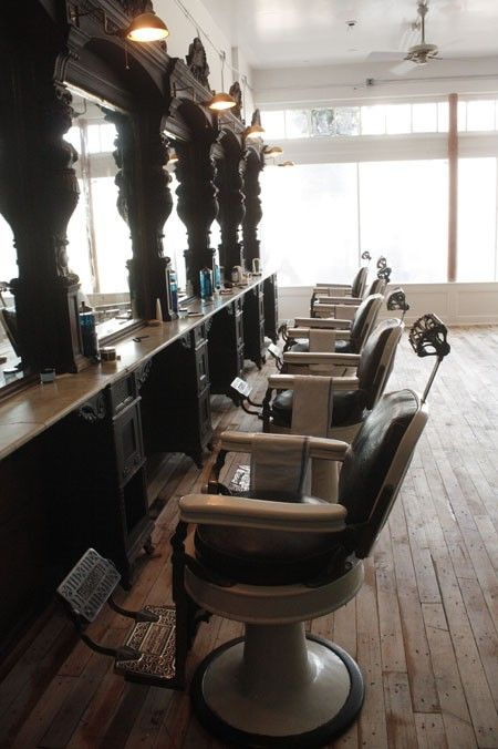 Barber shop kitted out in timber