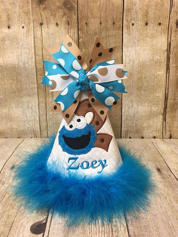 Cookie Monster Birthday Hat Boy Party