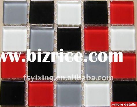 White Black Red And Grey 25 25 Square 1 Multi Color 4mm Crystal Ct09 Swimming Pool Bathroom Backs Black And White Backsplash Black Tile Bathrooms Bathroom Red