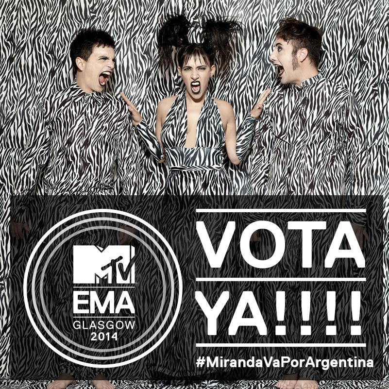 Hay que votar si o si hoy... ya termina la votación... es solo un click...  #MTVEMA @mtvema Vota aca x Miranda!   http://la.mtvema.com/artistas/miranda/6n0wnu