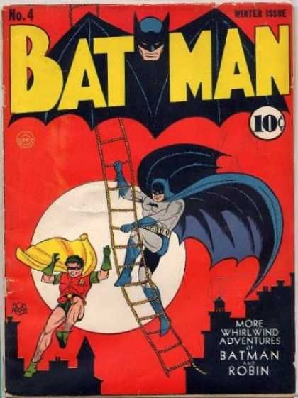 Batman 4 - Robin - Ladder - More Whirlwind Adventures - Winter Issue - 10 Cents - Bob Kane, Jerry Robinson