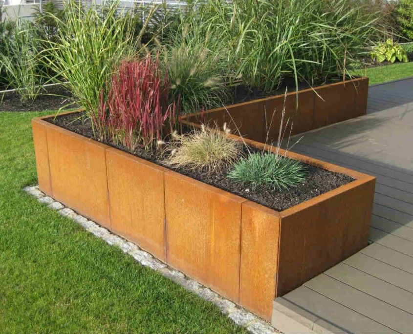hochbeet modern cortenstahl google suche garten pinterest gardens garden ideas and backyard selber bauen