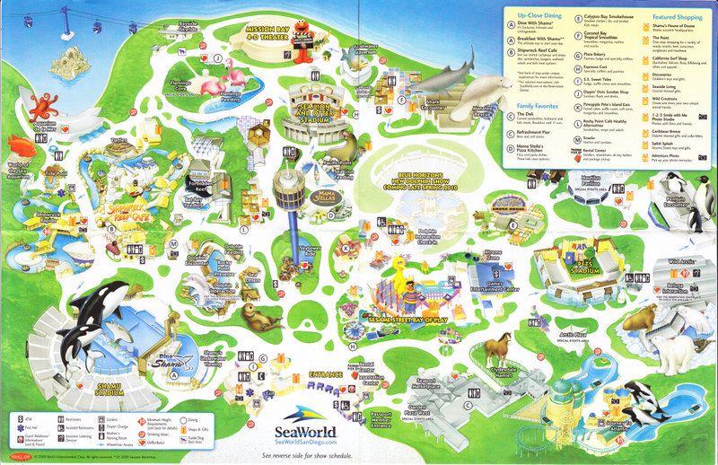 Seaworld Of San Diego 2009 Park Map