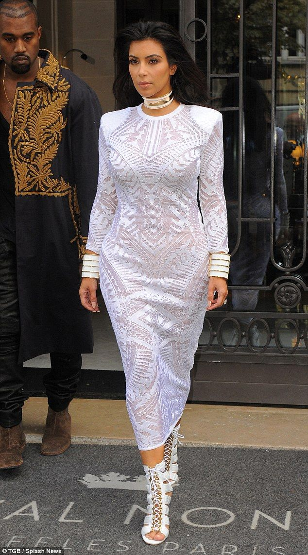 d0f5a5ff0f0a7 Regal  Kim Kardashian took her designer look to a whole new level on  Thursday as she stepped out in a couture Balmain creation