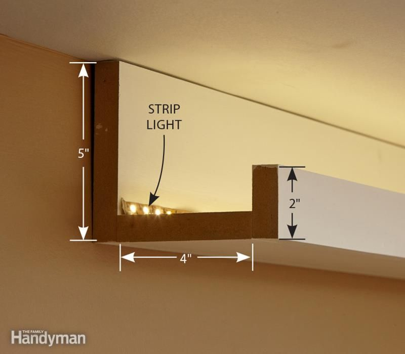 How To Install Elegant Cove Lighting The Family Handyman