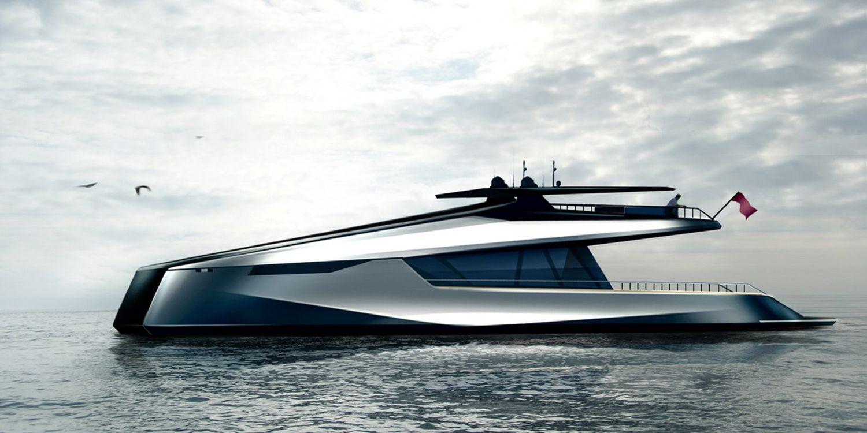 Power catamaran designs - Transportation Sketches Jfa 115 Power Catamaran