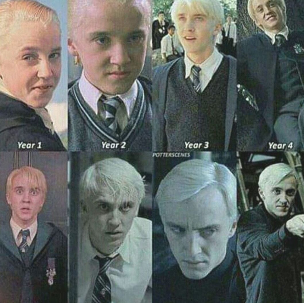Draco Malfoy Evolution Draco Malfoy Hogwarts Draco