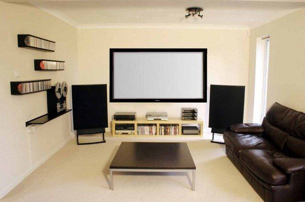 small-living-room-furniture-with-home-theater-design Home Theater