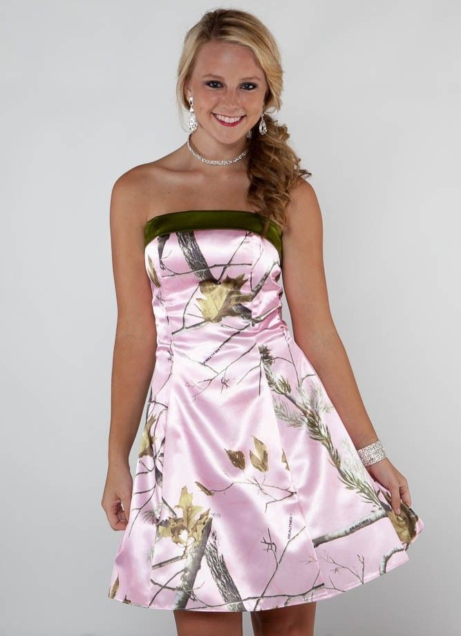 pink camo wedding dresses | Pink Camo Prom Dresses and Prom Corsage ...