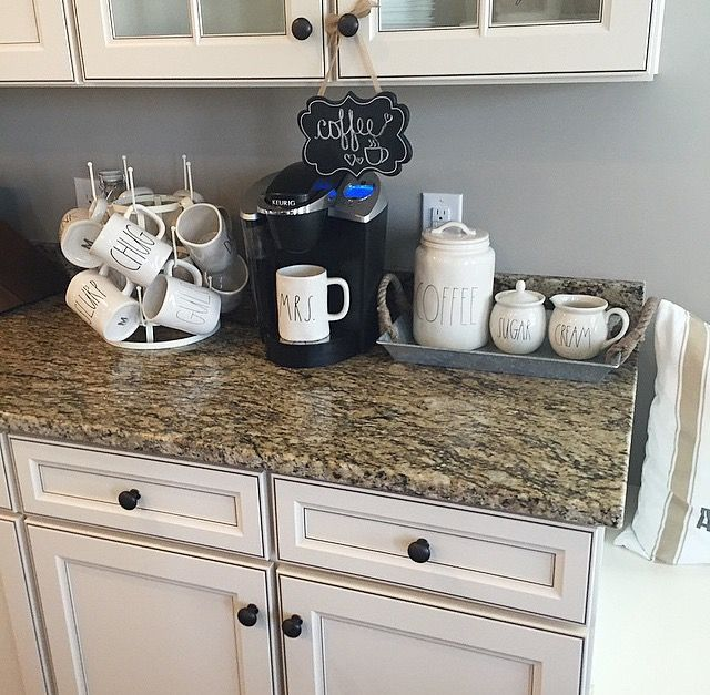 Coffee Station Rae Dunn Pinterest Coffee Kitchens