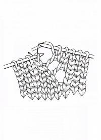 Point ajouré, point ajouré avec points décalés à droite et à gauche, bas …   – Strickmuster