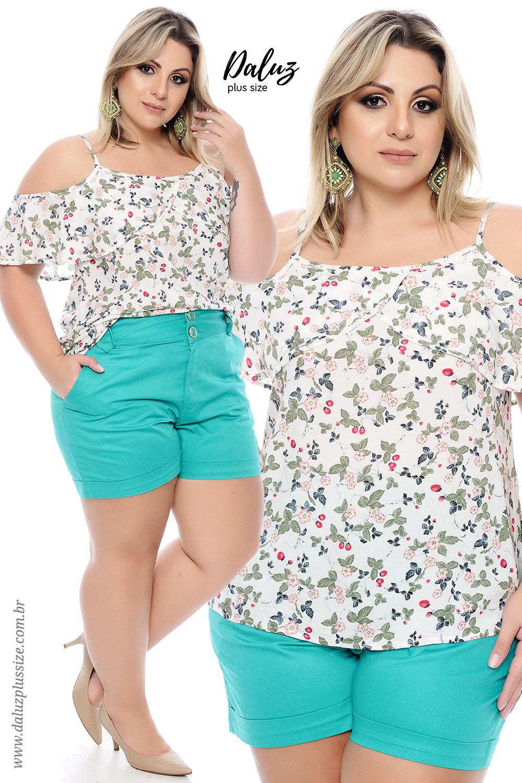 Blusa Plus Size - Coleção Alto Verão 2018 - www.daluzplussize.com.br ... bfe441d58aa