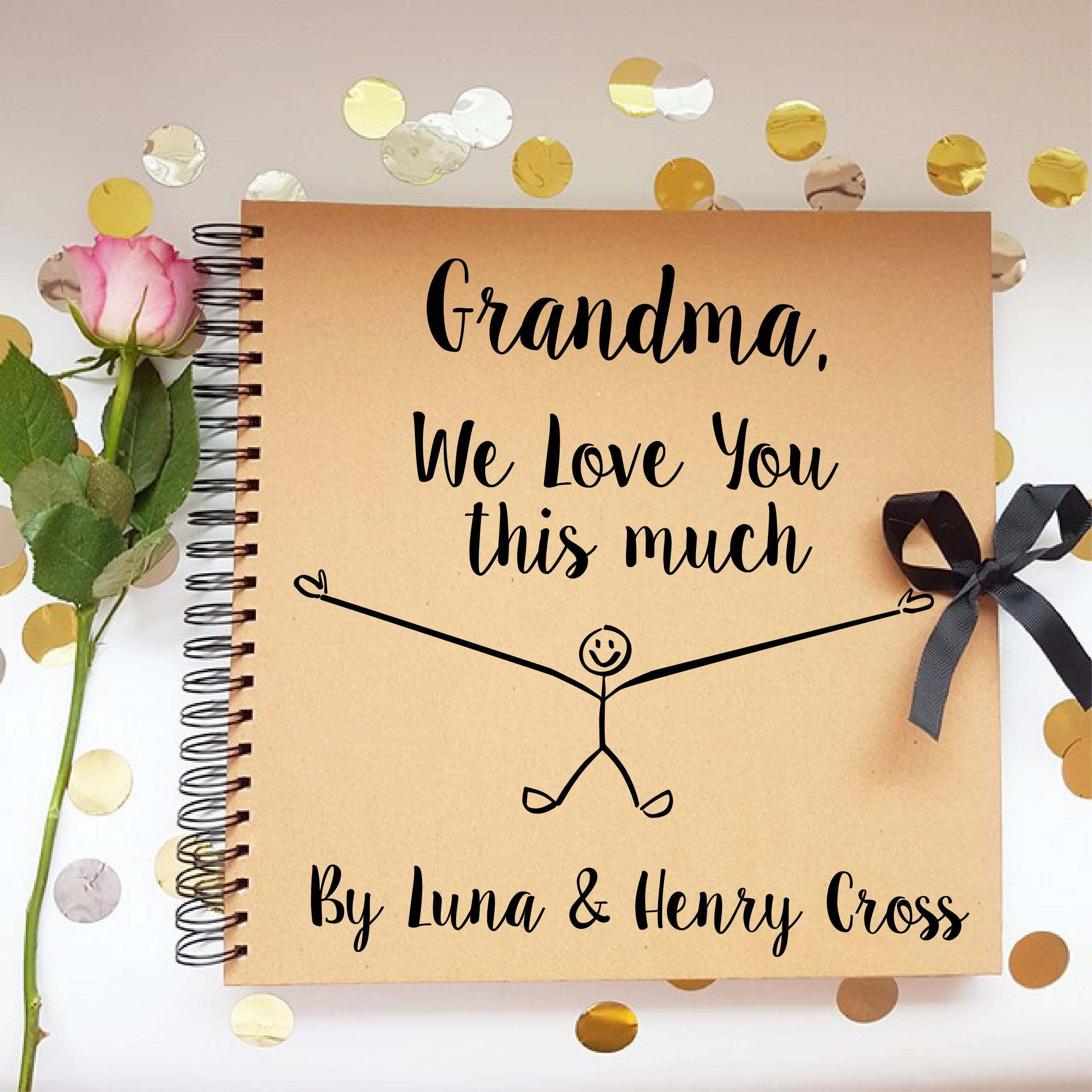 Gift for mum mothers day scrapbook personalised gift