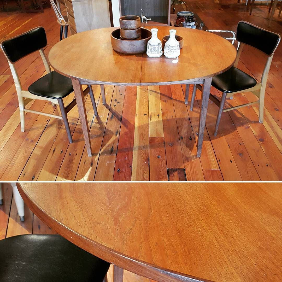 Danish Modern Teak Oval Dining Table With One Leaf 40 1 2 Wide X 51 Long X 29 High Without Leaf Trigvin Oval Table Dining Dining Table Dining