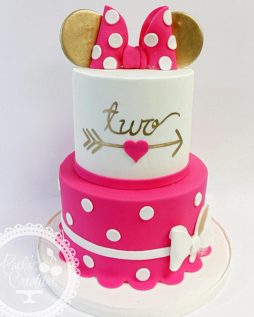 Minnie mouse inspired cake two minnie minniemouse