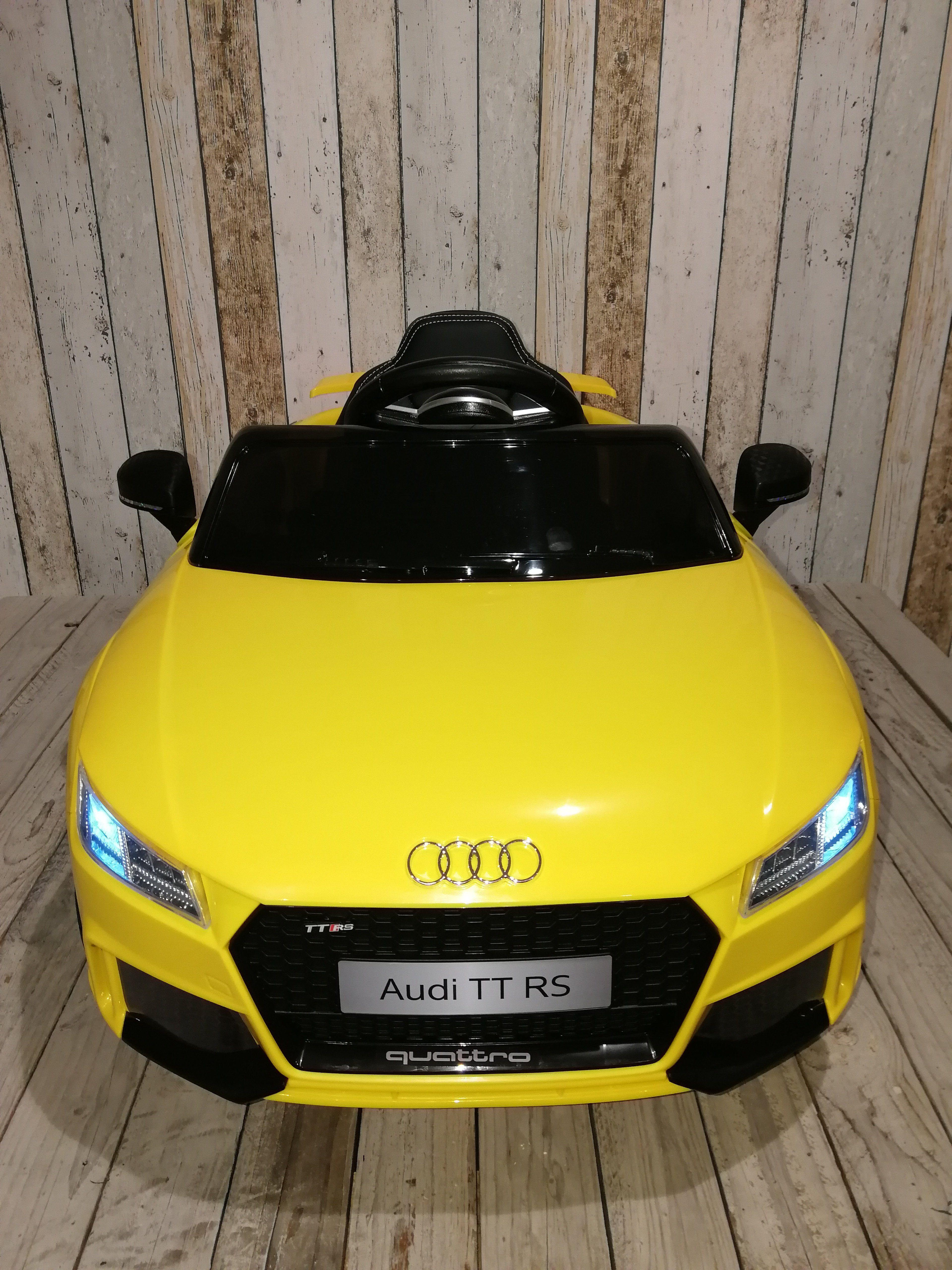 Met Rs Kinderauto Audi Zitjespeelgoedauto Geel Tt 12v Lederen H9DEIW2Y