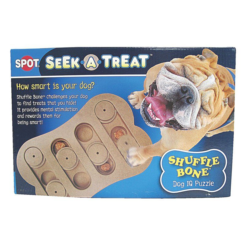 Seek A Treat Shuffle Bone Dog Toy 688176 Dog Training Treats