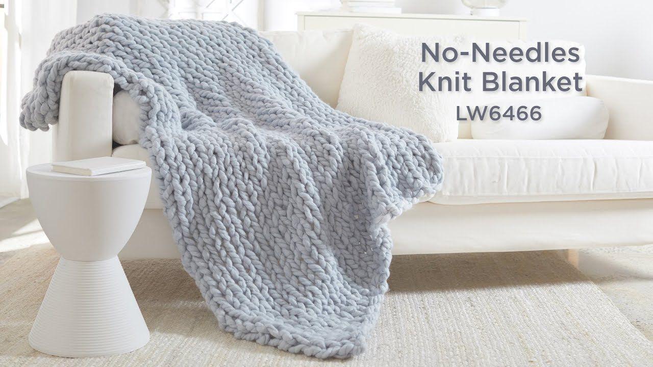 Diy quick easy no needle floor knitting chunky throw