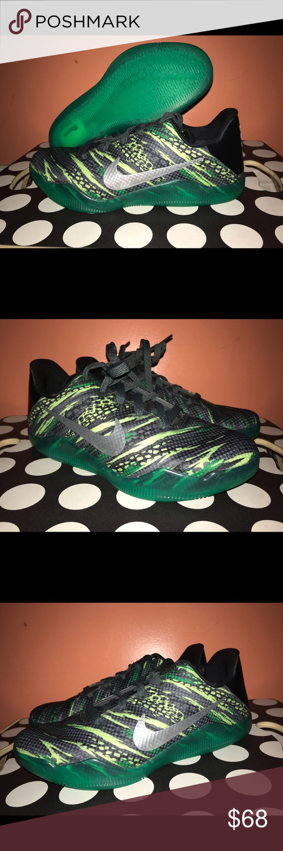 quality design 522f2 88df1 Nike Kobe 11 GS Green Snake Basketball Shoes Brand new shoes without box.  10