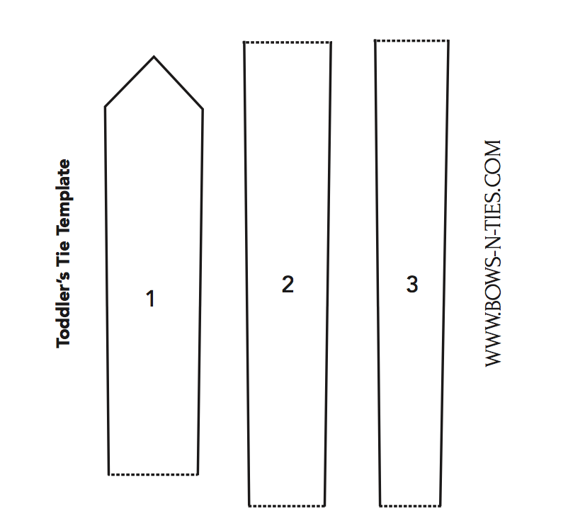 diy toddler necktie printable template for making a tie that fits a